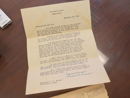 The archives of Newman United Methodist Church include a 1935 letter in which President Franklin D. Roosevelt asks the Rev. C.T. Wardah for opinions on national issues. Wardah later became Newman's pastor.