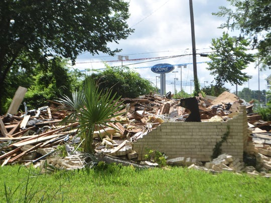 Demolition has started on flood-prone houses in the Greenway Park subdivision. Nearly 60 houses will be torn down in the flood-mitigation project.