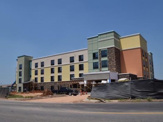 ANI Towne Place Suites Work continues on the new Towne Place Suites hotel located near the Alexandria Mall.-Melinda Martinez/The Town Talk