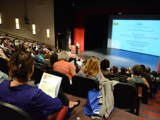 Nearly 200 educators from across the valley gathered at the CSUSB Palm Desert campus for the first Better Together California Teachers Summit.