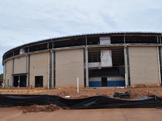 The 50-year-old Rapides Parish Coliseum has been stripped down, setting the stage for construction to give it a new look and enlarge its seating capacity.