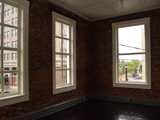 One of the offices on the second floor of a recently renovated building on Third Street.