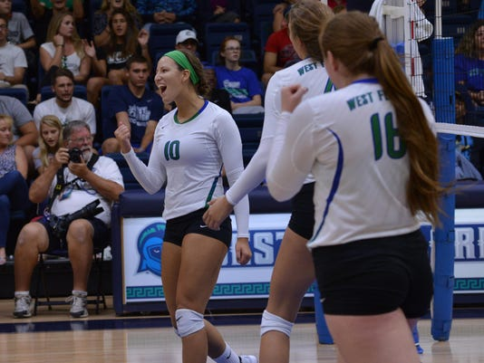 09-04-2015 UWF Womens volleyball sport action photography Pensacola Florida9