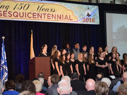 Hammonton High School Choir, directed by Marissa Carrafiello, performed two selections during the Founders' Day celebration.
