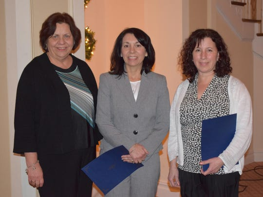 Port Republic School District Interim Superintendent Joetta Surace is pictured with top educators N. Barbara Kirner and Catherine Muniz at the 2016 Atlantic County Teacher/Educational Service Professionals Recognition Luncheon.