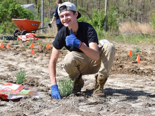 Anthony Johnson, 17, of Collings Lakes, a senior at Buena Regional High School, accepted a temporary position at Eden's Natural Garden in Newfield.