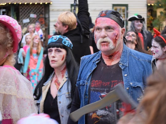 Katie and Danny Embrich of West Tuckerton attend the Smithville Zombie Walk annually.
