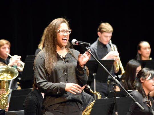 "Freshman Maria Thomas wows the audience at Sanford School's annual Holiday Concert with her rendition of Tory Kelly's ""Ain't Nobody Love."""