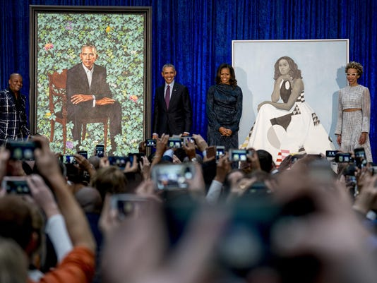 Barack Obama, Michelle Obama, Kehinde Wiley, Amy Sherald