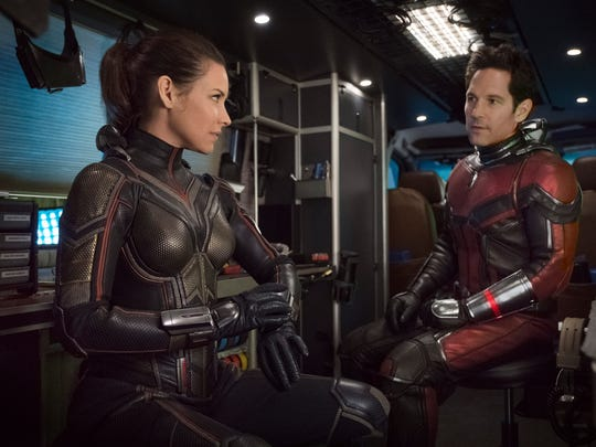 """The Wasp/Hope van Dyne (Evangeline Lilly) and Ant-Man/Scott Lang (Paul Rudd) in """"Ant-Man and the Wasp."""""""