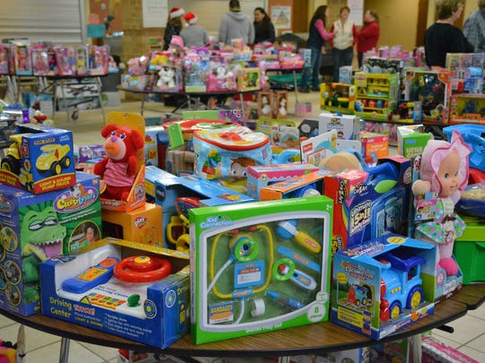 Toys donated by the good people of Kewaunee County for Toys for Tots.