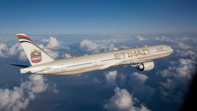 An Etihad Airways' Boeing 777.