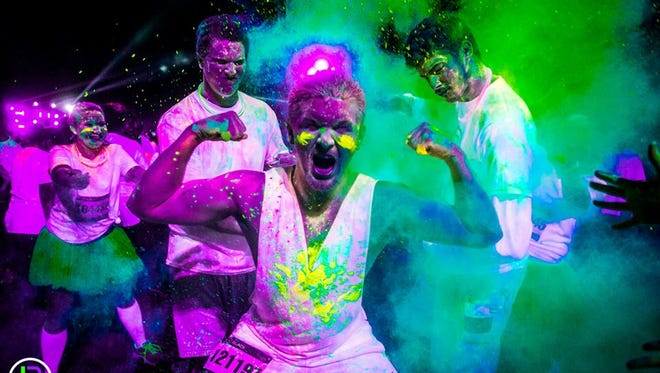 Get your glow on at the Blacklight Run 5K Saturday, January 31 at Goodyear Ballpark.