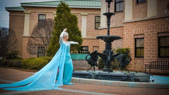 Queen Elsa was spotted in South Carolina this week.