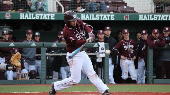 Mississippi State freshman Ryan Gridley leads the team batting .591.