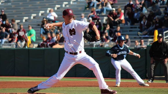 Mississippi State sophomore Austin Sexton helped his team salvage a doubleheader in SEC play.