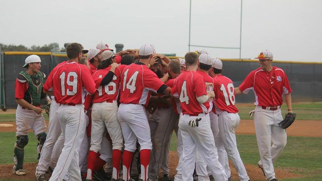 The Palm Springs Power Baseball team after their victory in San Diego.