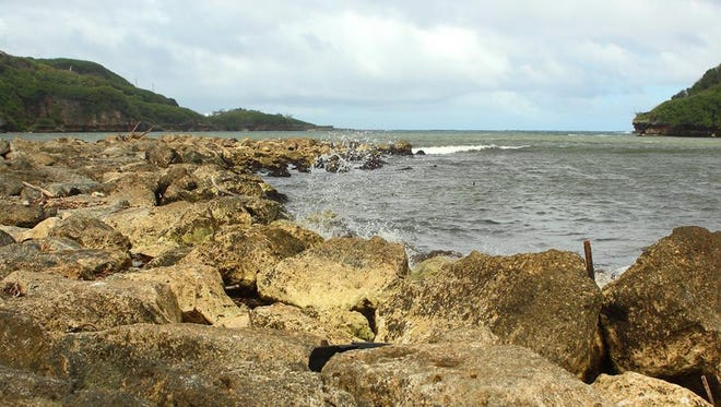 The rocky shores of Guam.