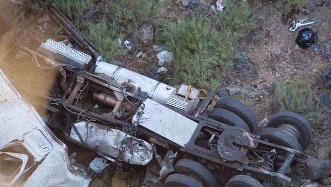 Semi-truck found in Hurricane.