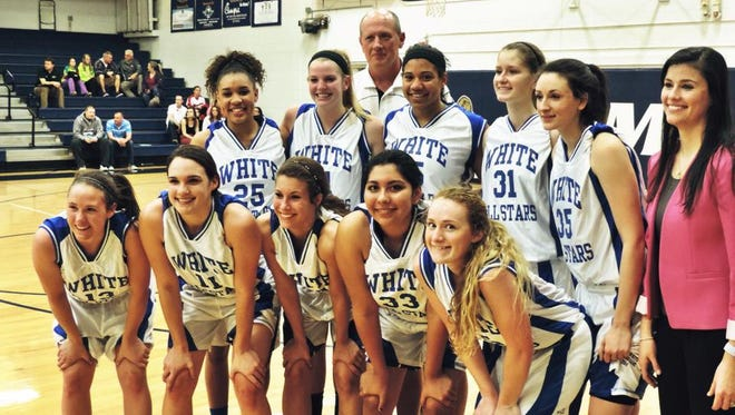 Amber Long, front row middle, played in the 2014 Blue-White All-Star game.