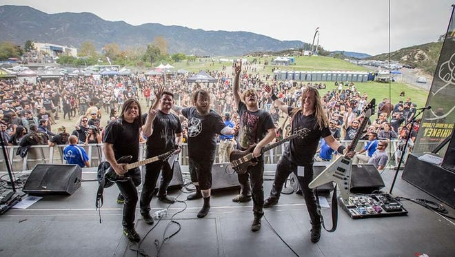 Green Green Death, a thrash metal band from Des Moines, played Knotfest in San Bernardino , Calif. earlier this year. The festival was created by Slipknot.