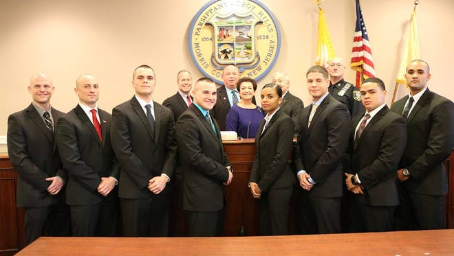 Parsippany's eight new police officers.