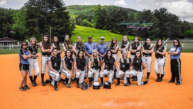The Hiwassee Dam girls softball team was the 1-A Western Regional champion in 2015.