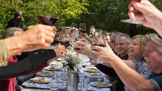 McMenamins toasts syrah at the 15th annual Celebration of Syrah, featuring more than 100 wines from around the world, on April 8 and 9 at McMenamins Edgefield.