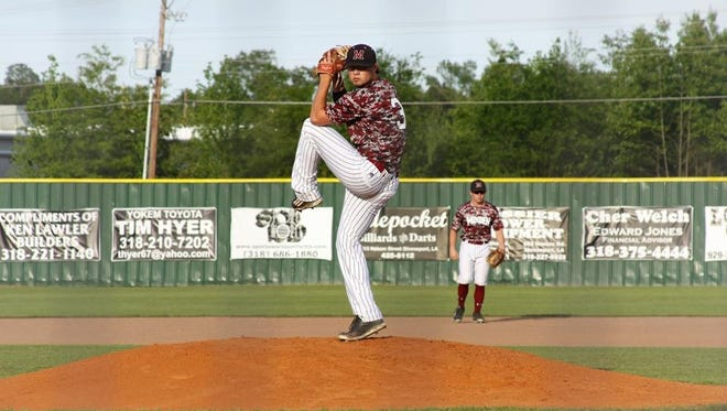 Minden's Trace Francis struck out five and walked one in a five-inning no-hitter Friday at Northwood.