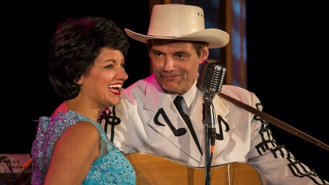 Denise Patton and Robbie Limon star as Patsy Cline and Hank Williams Sr. in Lovesick Blues running through May 22 at Totem Pole Playhouse (717-352-2164).Denise Patton and Robbie Limon star as Patsy Cline and Hank Williams Sr. in Lovesick Blues running through May 22 at Totem Pole Playhouse (717-352-2164).