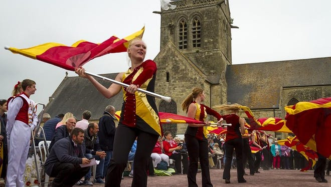 The Iowa State University marching band is in France for performances commemorating the 72nd anniversary of the D-Day invasion.