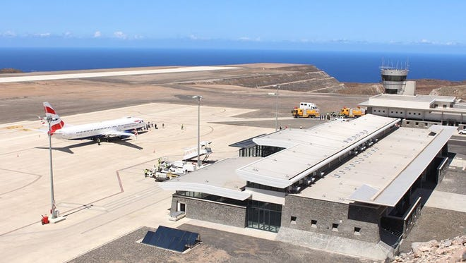 This undated photo shows St. Helena's new airport. It's opening has been indefinitely postponed.