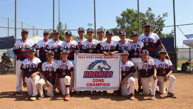 Scorpions proudly displaying newly won banner on road to Pony League World Series