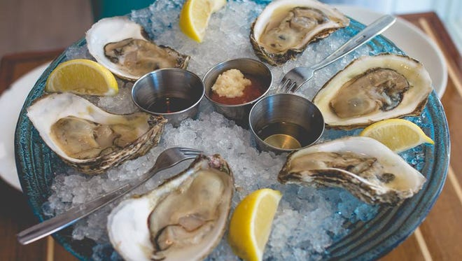 Happy hour takes place 2 to 5 p.m., Mondays through Fridays at 99 Sea Level Restaurant & Raw Bar. Specials include a half-dozen oysters for $9.