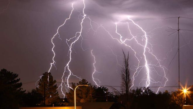 Thunderstorms are in the forecast for Las Cruces this week.