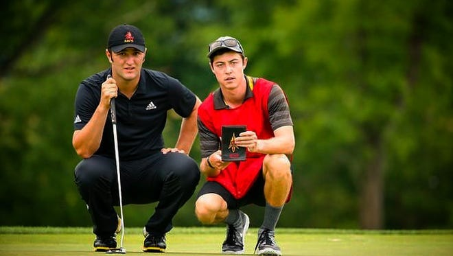 Former Ventura High golfer Ben Shur (right) is working as a caddie for his former college teammate Jon Rahm. With Shur's help, Rahm has earned a spot on the PGA Tour for the 2016-2017 season.