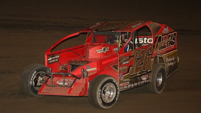 Jeff Strunk captured the Freedom 76 modified race at Grandview Speedway on Saturday night to salvage a mediocre season.