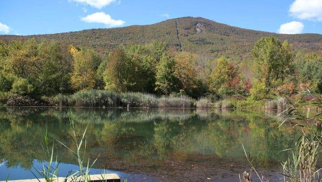 Mt. Greylock, as seen from the Greylock Glen in Adams, Massachusetts, in fall 2013.