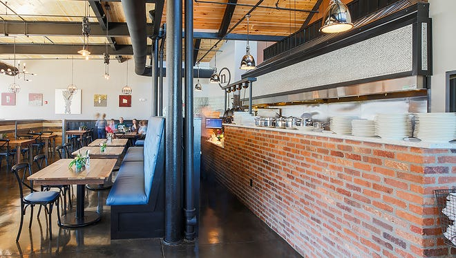 Nosh's decor is rustic and industrial.