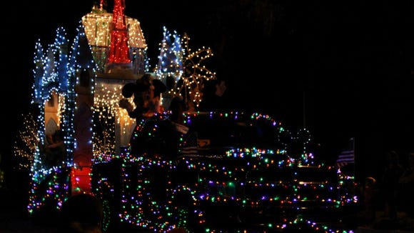 One of the floats from Titusville's Christmas parade.