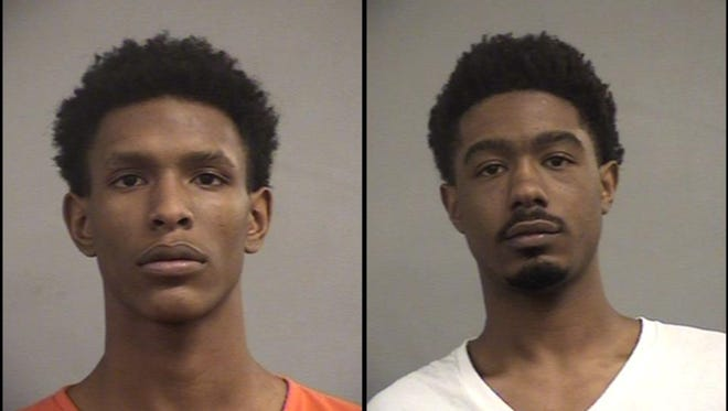 Jayaaron Cathey, left, and Jermon Manion, right
