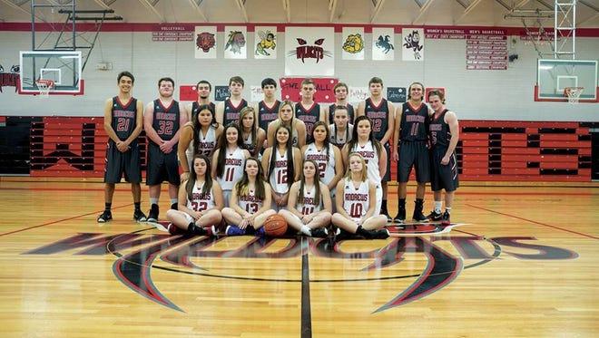 The Andrews boys and girls basketball teams.