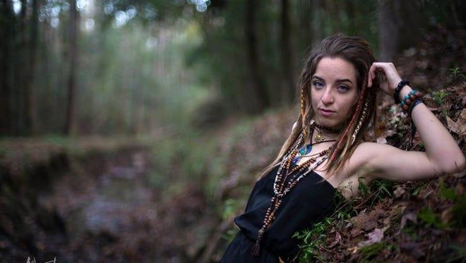 Just Chameleons singer Kat Hall at a photo shoot