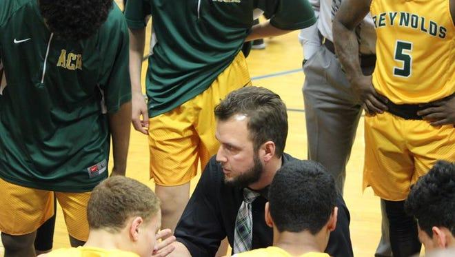 Reynolds boys basketball coach Ryan Stevens.