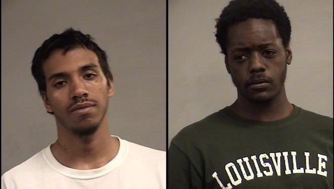 Tristan Jewell, left, and Devonta Anderson, right, are accused of killing 18-year-old Joshua Evans.
