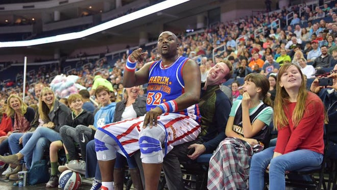 The Harlem Globetrotters come to Wells Fargo Arena on Friday night.
