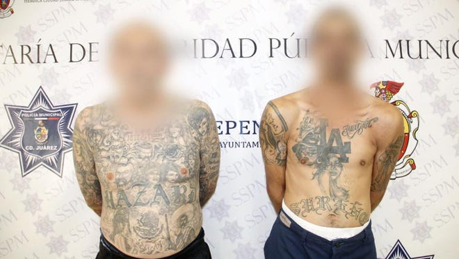 Two suspected Sureños gang members were arrested on gun charges in Juárez.
