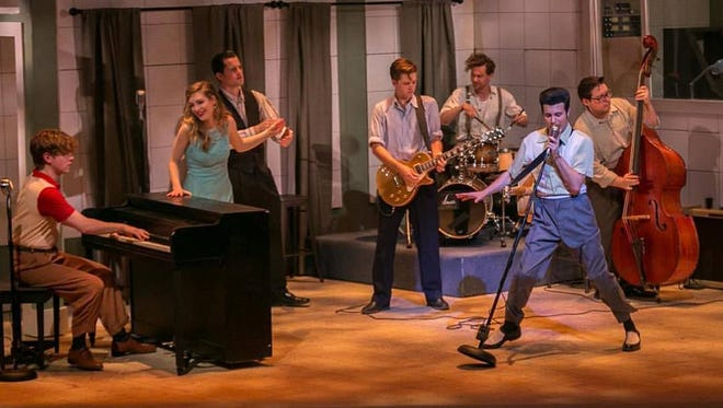 The cast of 'Million Dollar Quartet' at Playhouse on the Square