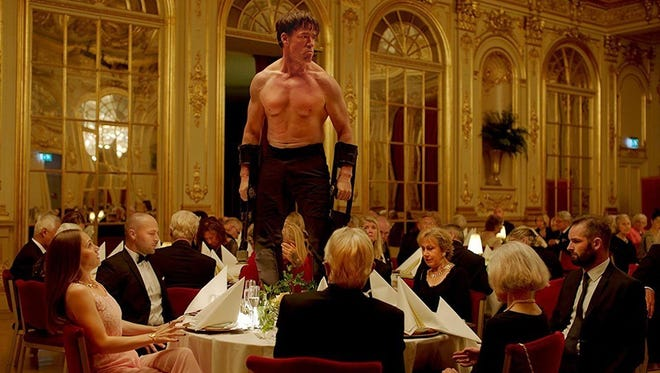 """Terry Notary plays a performance artist who crashes a gala at a fancy art museum in the Swedish satire """"The Square."""""""