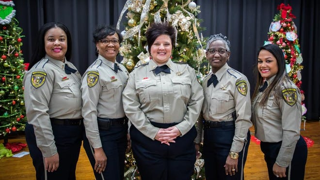 The B-Team (shift) of Caddo Parish Sheriff's Office Communications Division. They made some amazing things happen for 12 students of J.S. Clark Middle School this year as part of their Christmas Project.